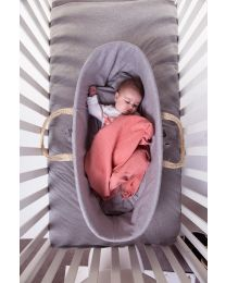 Moses Basket Cover - Jersey - Grey