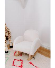 Schaukelstuhl Für Kinder - Teddy - Cremefarben Naturell