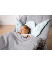 Babywippe - Jersey/Aluminium - Grau