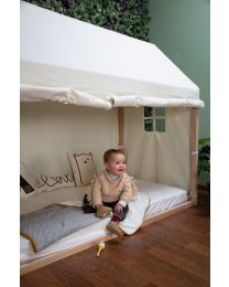 Bed Frame House Cover - 90x200 Cm - White