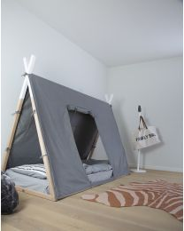 Tipi Bed Cover - 90x200 Cm - Grey