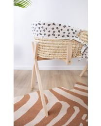 Moses Basket Cover - Jersey - Leopard