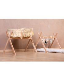 Tipi Stand For Moses Basket + Baby Gym - Wood - Natural
