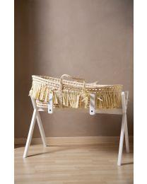 Tipi Ständer Für Moseskorb + Baby Gym - Holz - Weiß