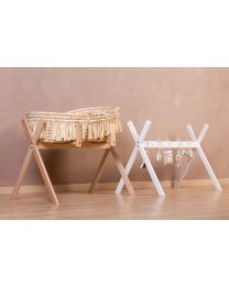 Tipi Stand For Moses Basket + Baby Gym - Wood - White