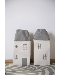 Toy Box House - Polyester - Grey Off White