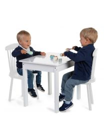 Kid Table - 60x48x51 Cm - Wood - White
