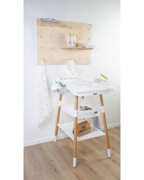 Evolux Table A Langer - Naturel Blanc