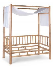 Bamboo - Cot Bed Cover - Off White
