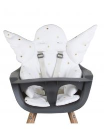 Angel High Chair Seat Cushion Universal - Jersey - Gold Dots