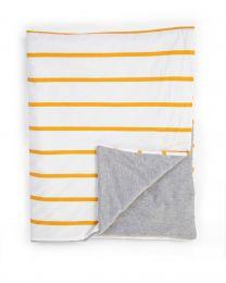 Babydeken - 80x100 Cm - Jersey - Ochre Stripes