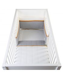 Bed Protection - 35x170 Cm - Jersey - Crochet Ecru