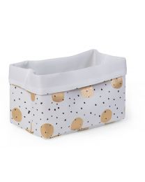Storage Basket - 32x20x20 Cm - Canvas - Gold Dots