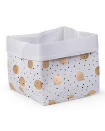 Storage Basket - 32x32x29 Cm - Canvas - Gold Dots