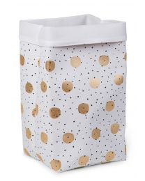 Storage Basket - 32x32x60 Cm - Canvas - Gold Dots