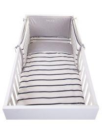 Duvet Cover + Pillow Cover - 100x140 Cm - Jersey - Marin
