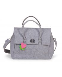 Nursery Bag + Stroller Hooks - Felt - Grey