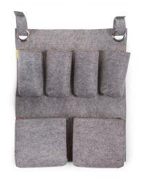 Organizer - 60x50 Cm - Felt - Grey Fuchsia