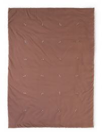 Quilted Blanket - 140x100 Cm - Jersey Polystar - Rust