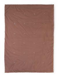 Gewatteerd Deken - 140x100 Cm - Jersey Polystar - Roest