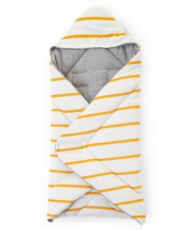 Einschlagdecke Universell - 75x75 Cm - Jersey - Ochre Stripes
