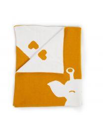 Baby Blanket - 85x70 Cm - Jersey - Giraffe Ecru