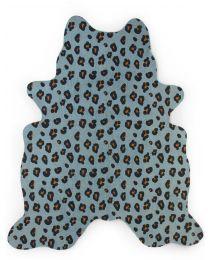 Leopard Kinderteppich - 145x160 Cm - Blau
