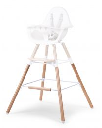 Evolu Extra Set Long Legs + Footrest - Wood - Natural White