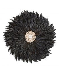 Juju Feathers Wall Decoration - 30 Cm - Anthracite