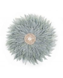 Juju Feathers Wall Decoration - 30 Cm - Light Grey