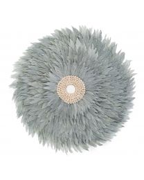 Juju Feathers Wall Decoration - 50 Cm - Light Grey