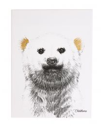 Oil Painting - Polar Bear + Gold - 30x40 Cm