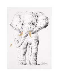 Oil Painting - Elephant + Gold - 30x40 Cm
