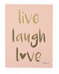 Oil Painting - Live Laugh Love - 30x40 Cm