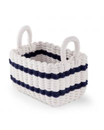Storage Basket - 32x20x20 Cm - Rope - White Navy
