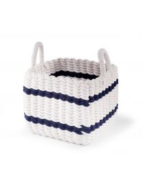 Storage Basket - 32x32x29 Cm - Rope - White Navy