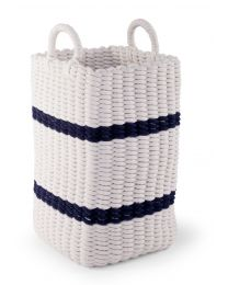 Storage Basket - 32x32x60 Cm - Rope - White Navy