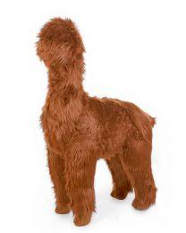 Standing Alpaca Stuffed Animal - 65x35x110 Cm - Rust