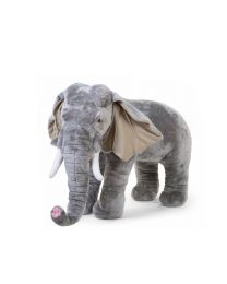 Standing Elephant Stuffed Animal - 90x50x75 Cm - Grey