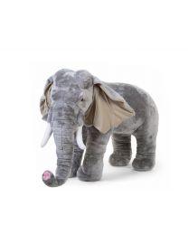 Peluche Debout Eléphant - 90x50x75 Cm - Gris