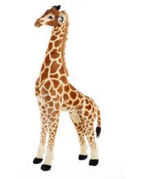 Staande Giraf Knuffel - 50x40x135 Cm - Bruin Geel