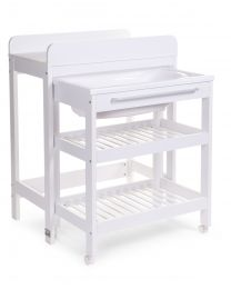 Changing Table For Bath Bucket & Bath (Bath Incl.) - Particle Board - White