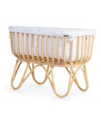 Rectangular Rattan Cradle Cover - Jersey - Off White