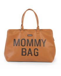 Mommy Bag Wickeltasche - Lederlook Braun