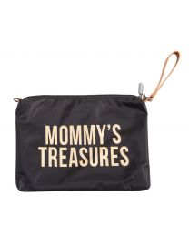 Mommy's Treasures Clutch - Schwarz Gold
