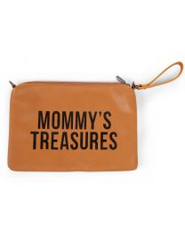 Mommy's Treasures Clutch - Look Cuir Brun
