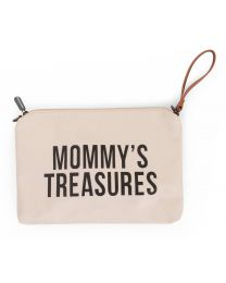 Mommy's Treasures Clutch - Cremefarben Schwarz