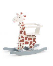 Girafe A Bascule + Barre - MDF - Brun Jaune