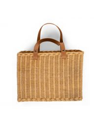 Hanging Storage Basket - 2 Handles - Natural