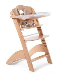 Lambda 3 Baby High Chair + Feeding Tray - Wood - Natural